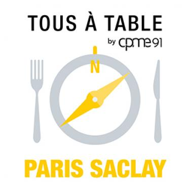 Logo Tous à table by CPME91 Paris Saclay